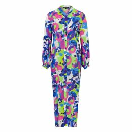 Maiko Nagayama - Thread & Rubber Black Ceramic Coated Earrings Set With Blue-Lace Agate