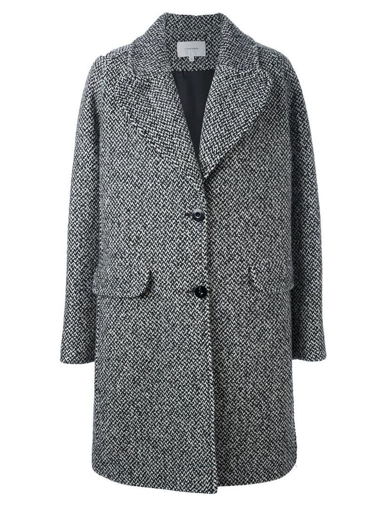 Carven single breasted coat - Black