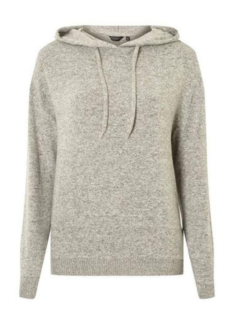 Womens Grey Cosy Hoodie- Grey, Grey