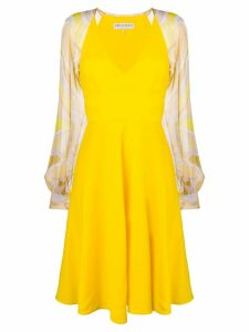 Emilio Pucci Yellow Contrast Sleeve Dress