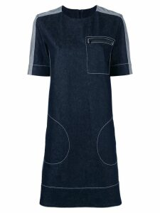 Marni stitched shift dress - Blue