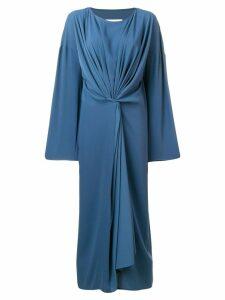 Mm6 Maison Margiela gathered detail dress - Blue