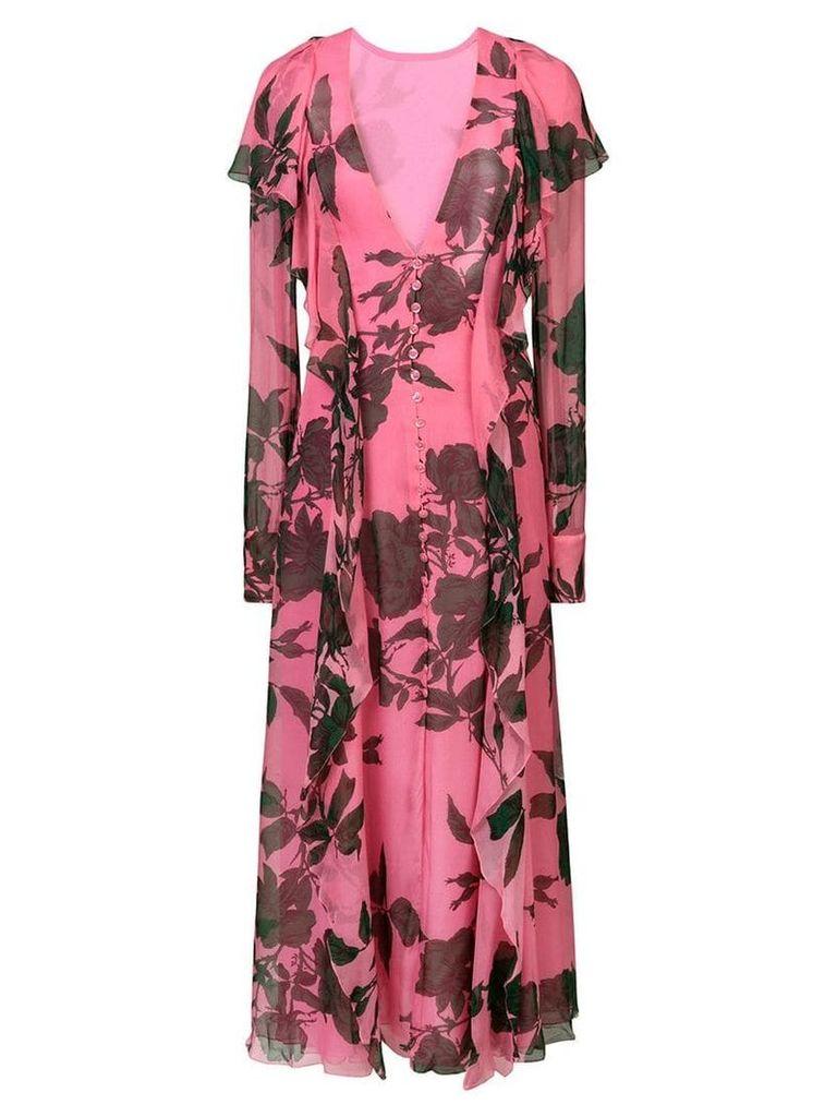 Carolina Herrera floral print dress - Pink