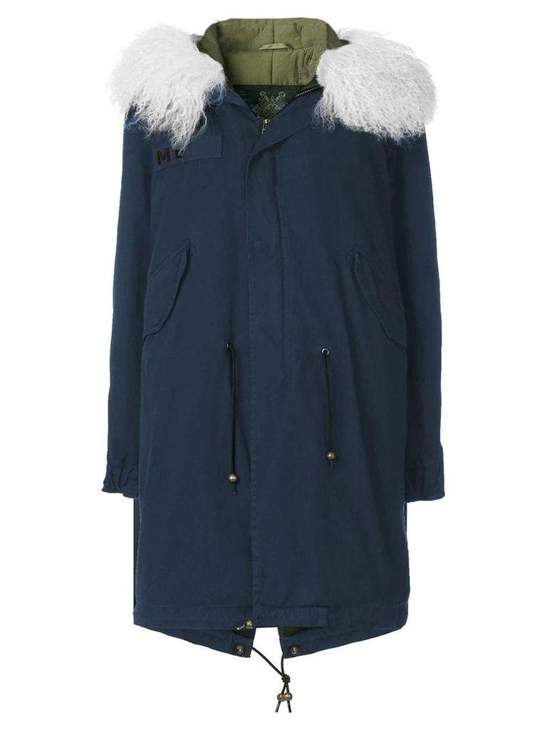 Mr & Mrs Italy customisable mid-length parka - Blue