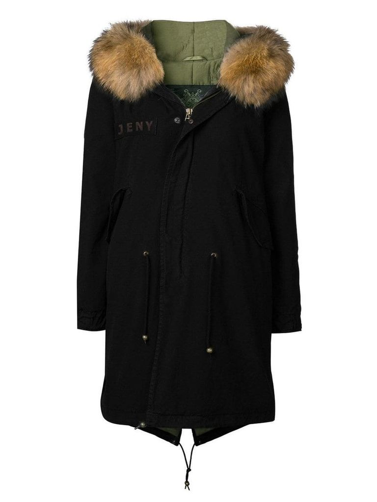 Mr & Mrs Italy customisable mid-length parka - Black