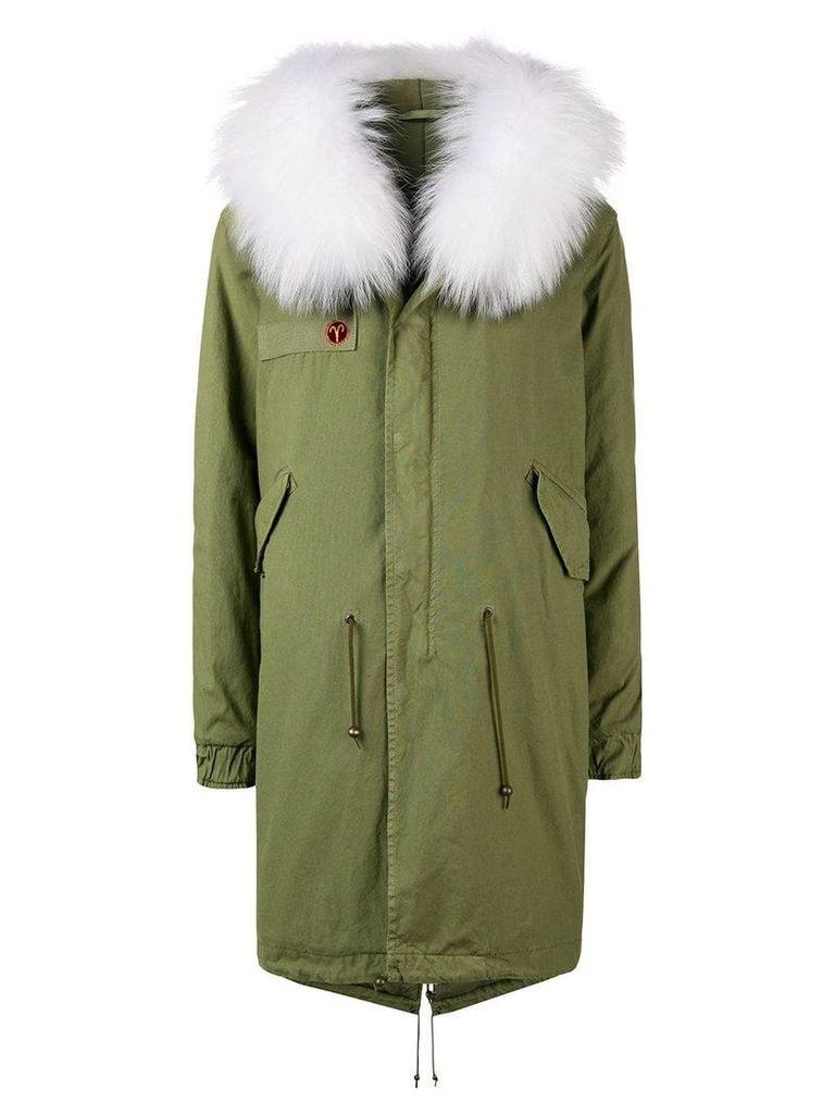 Mr & Mrs Italy customisable mid-length parka - Green