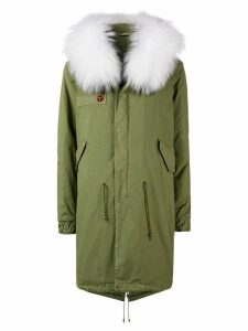 Mr & Mrs Italy customisable mid-length parka - Green