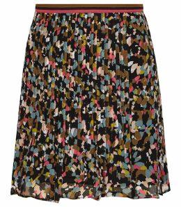 Reiss Amy - Ditsy Print Flippy Skirt in Multi, Womens, Size 6