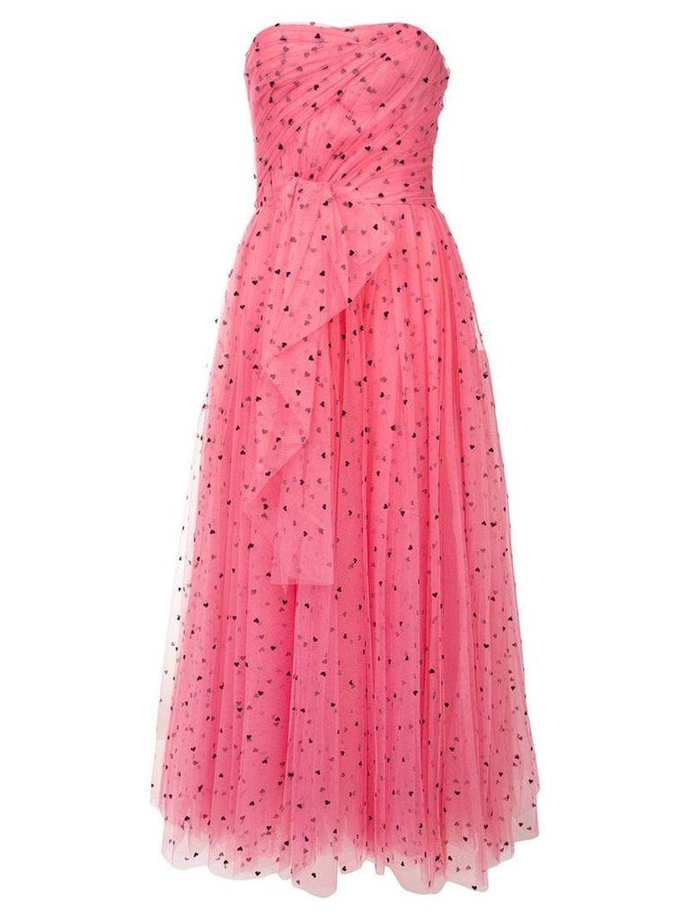 Carolina Herrera hear print tulle dress - Pink