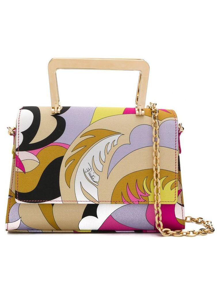 Emilio Pucci Fuchsia And Yellow Acapulco Print Zanzi Bag - Pink