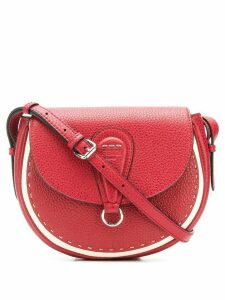 Fendi stitch detail saddle bag - Red
