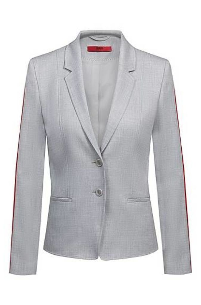 Regular-fit jacket with contrast sleeve tape
