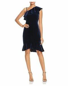 Leota Tereza Velvet One-Shoulder Dress