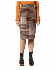 L.k.Bennett Aimee Houndstooth Check Pencil Skirt
