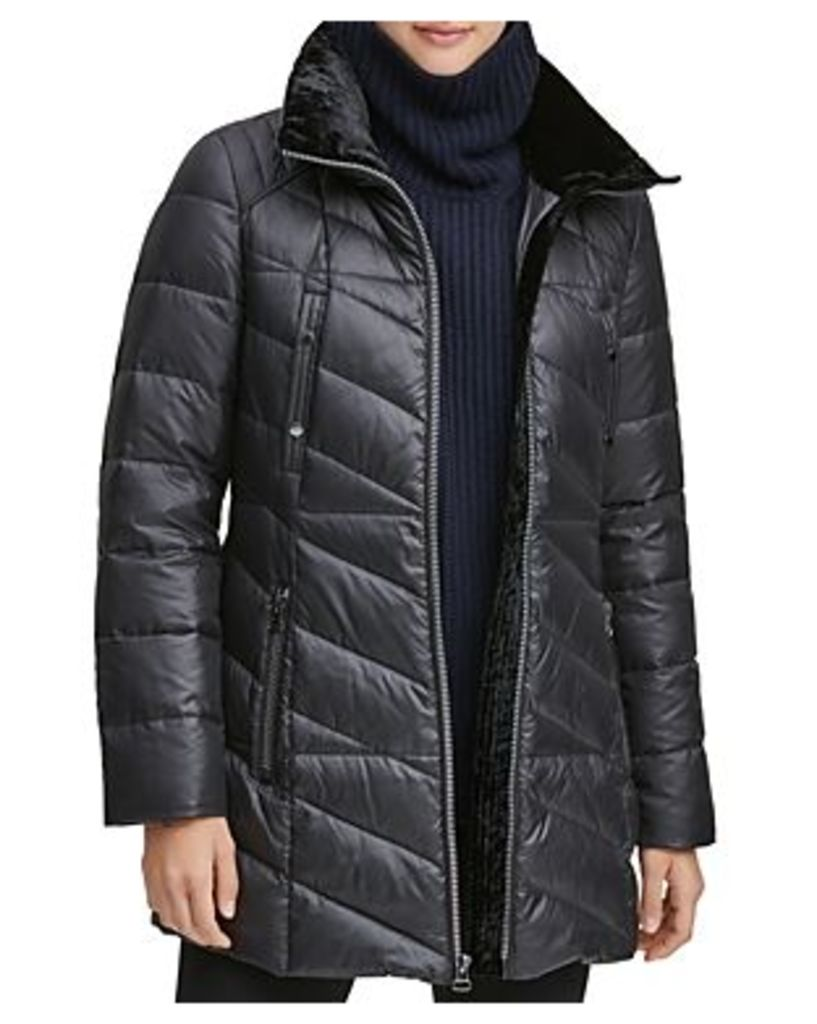 Marc New York Shirley Hooded Faux Fur Trim Parka