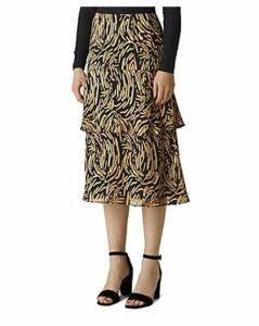 Whistles Reed Tiered Burnout Skirt