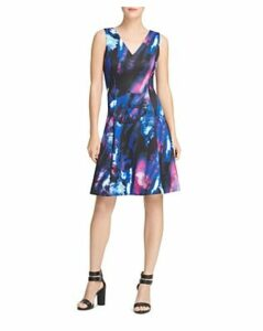 Donna Karan Seamed Fit-and-Flare Dress