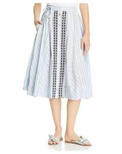 Lemlem Nefasi Striped Godet Skirt