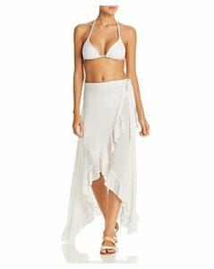 Echo Ruffle Wrap Skirt Swim Cover-Up