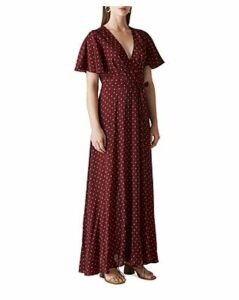 Whistles Woodblock-Print Wrap Dress