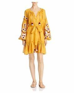 Eleven Zarina Embroidered Blouson Sleeve Dress