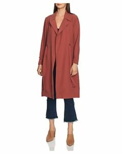 1.state Belted Soft-Twill Trench Coat