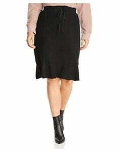 B Collection by Bobeau Curvy Renata Drawstring Flutter Skirt