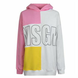 MSGM Colour Block Hooded Sweashirt
