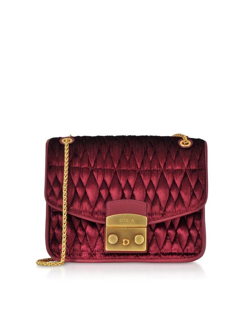 Furla Designer Handbags, Quilted Velvet Cometa S Crossbody Bag