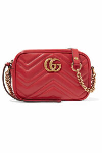 Gucci - Gg Marmont Camera Mini Quilted Leather Shoulder Bag - Red