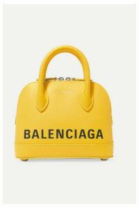 Balenciaga - Ville Xxs Aj Printed Textured-leather Tote - Yellow