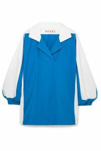 Marni - Two-tone Cotton-poplin Shirt - Blue