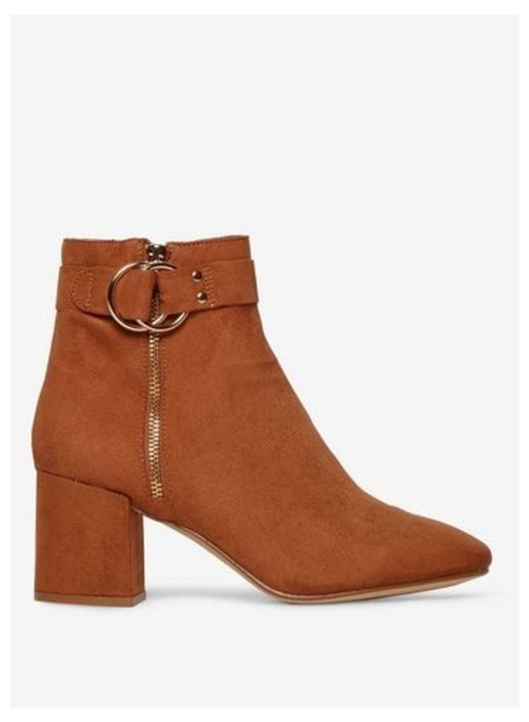 Womens Tan 'Azzure' Ankle Boots- Brown, Brown