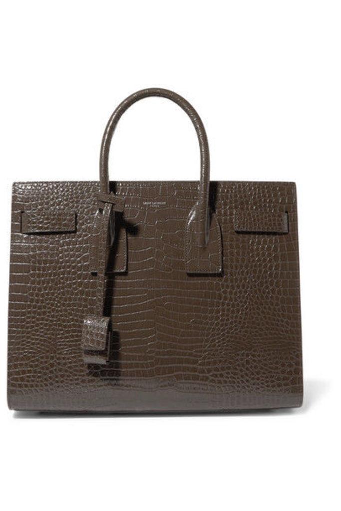 SAINT LAURENT - Sac De Jour Small Croc-effect Leather Tote - Taupe