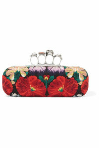 Alexander McQueen - Knuckle Embellished Canvas Clutch - Red
