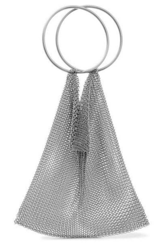 Saskia Diez - Chainmail Clutch - Silver