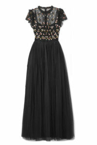 Needle & Thread - Rococo Sequin-embellished Point D'esprit And Embroidered Tulle Gown - Black
