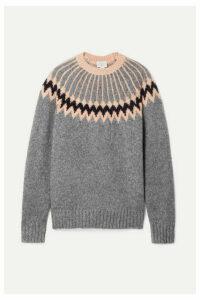 Jason Wu - Intarsia Wool-blend Sweater - Anthracite