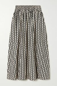 Lee Mathews - Stella Silk-satin Midi Skirt - Blush