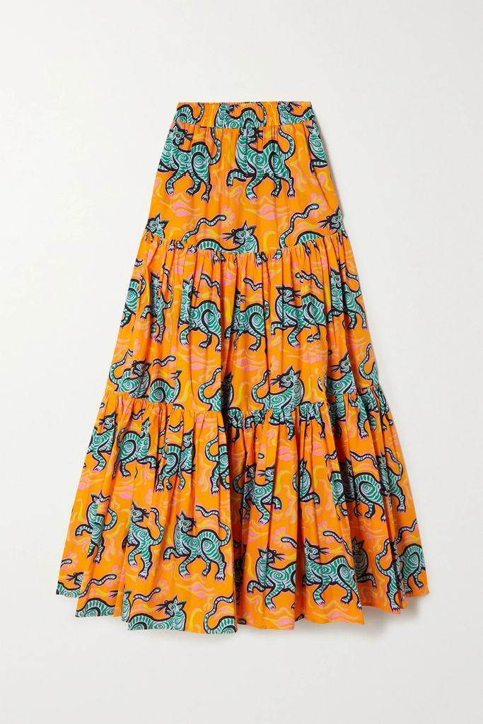 SIMON MILLER - Luz Cotton And Linen-blend Chambray Skirt - Indigo