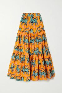 SIMON MILLER - Luz Cotton And Linen-blend Chambray Skirt - Indigo