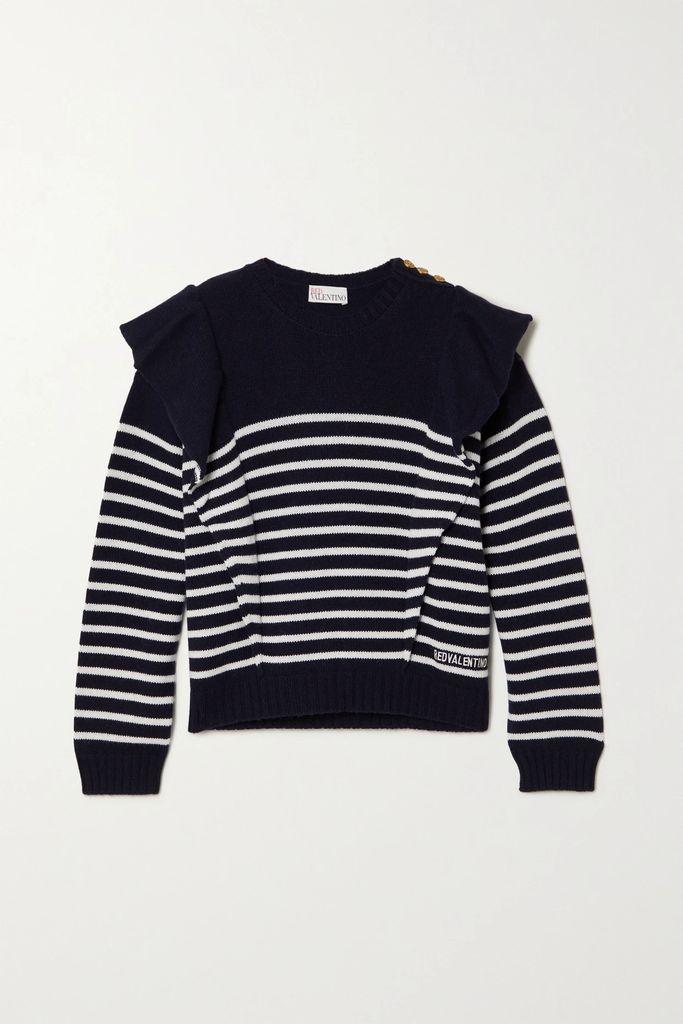 The Row - Mara Stretch-crepe Midi Skirt - Black