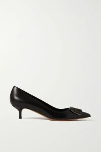 Oscar de la Renta - Pleated Floral-print Cotton-blend Midi Skirt - Blue