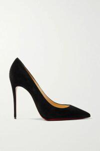 Oscar de la Renta - Pleated Floral-print Cotton-blend Midi Skirt - Blue