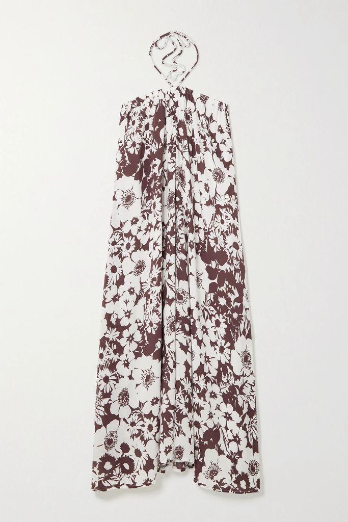 Veronica Beard - Annika Floral-print Silk-blend Jacquard Midi Dress - Blue