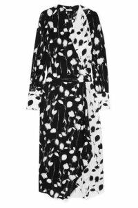 Equipment - Neema Asymmetric Wrap-effect Floral-print Georgette Maxi Dress - Black
