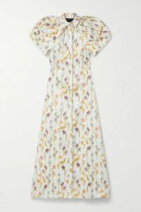 RIXO - Noleen Floral-print Cotton-poplin Wrap Dress - Red