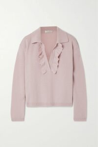 Victoria, Victoria Beckham - Bead-embellished Crepe Shirt Dress - Midnight blue
