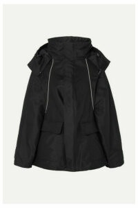 Balenciaga - Swing Embroidered Canvas Parka - Black