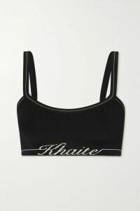 Alexander Wang - Embellished Cotton-blend Jersey Hoodie - Black